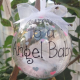 Angel Baby Feather Tree Bauble
